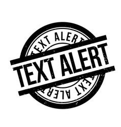 Text alert rubber stamp vector