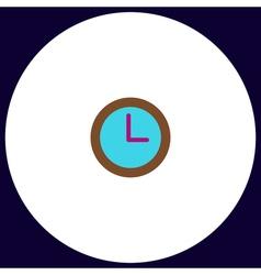 Time clock computer symbol vector