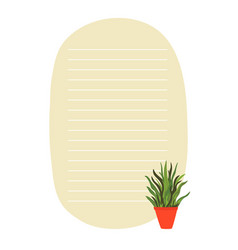 to do list planner template with green plant vector image