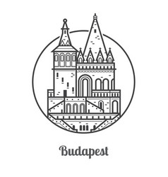 travel budapest icon vector image