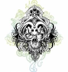 warrior skull illustration vector image