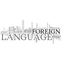 Why learn a foreign language reasons text word vector