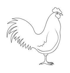 home cockanimals single icon in outline style vector image vector image