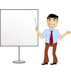 Presenter cartoon vector image vector image