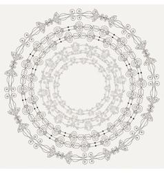 Set of four elegant filigree frames in vintage vector image