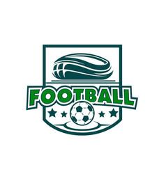 soccer football stadium and ball stars icon vector image vector image