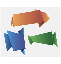 web banners in origami style for web design vector image