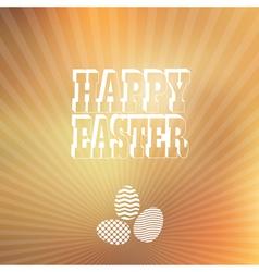 Blured background Easter vintage label vector image