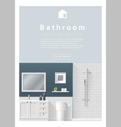 Interior design Modern bathroom banner 2 vector image vector image