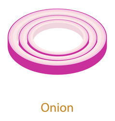 onion icon isometric 3d style vector image vector image