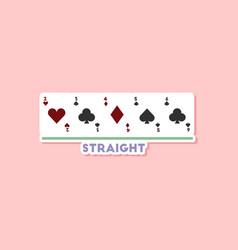 Paper sticker on stylish background poker cards vector