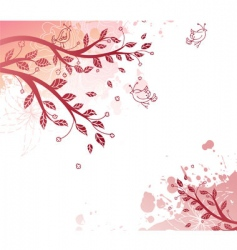 tree back splash vector image