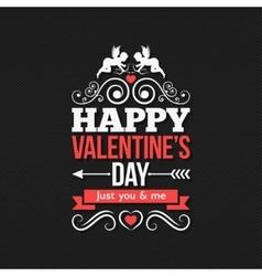 Valentines Day Border Vintage Design Background vector image vector image
