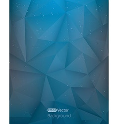 Abstract light blue triangle in space vector image vector image