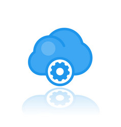 cloud computing icon in flat style vector image vector image