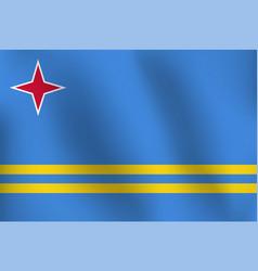 flag of aruba - vector image vector image