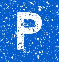 parking grunge vector image vector image