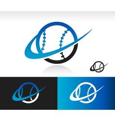 Swoosh Baseball Logo Icon vector image