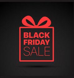 black friday sale red logo concept vector image