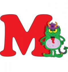 M is for monster vector image vector image