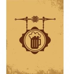 vintage bar sign post vector image vector image