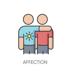 Affection rgb color icon vector