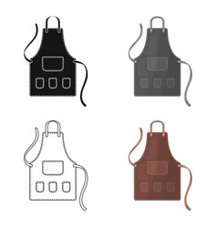 Apron of a hairdresser with pocketsbarbershop vector