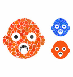 Bahead mosaic icon spheric items vector