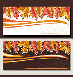 Banners for autumn vector