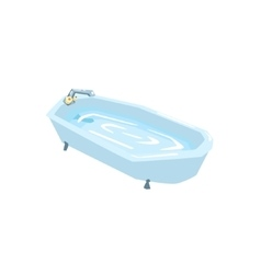 Bath Tub Filled With Water vector