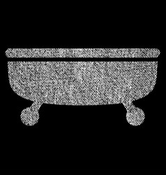 Bathtub fabric textured icon vector