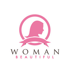 beautiful woman logo design inspiration vector image