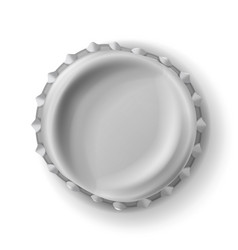 Beer cap curved beer cap realistic vector
