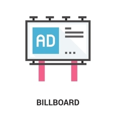billboard icon concept vector image