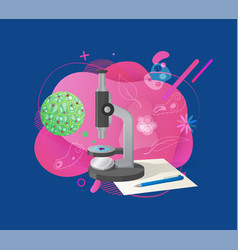 Biotechnology research microscope and cell vector