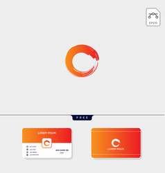 brush initial o creative logo template for vector image