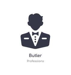 Butler icon isolated butler icon from professions vector