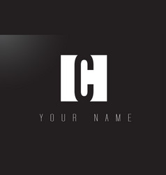 c letter logo with black and white negative space vector image