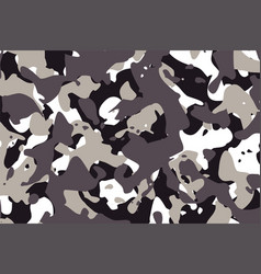 Camouflage pattern texture in gray shades vector