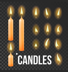 candles set orange religion church vector image