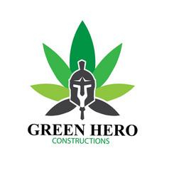 cannabis hero spartan logo designs simple modern vector image