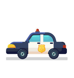 car icon stock flat police vector image