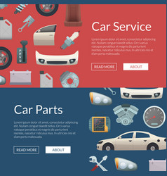 Car parts web banner templates vector