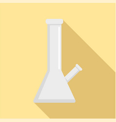 Chemical cannabis flask icon flat style vector