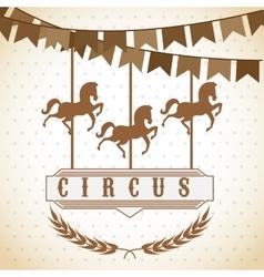 Circus entertainment design vector