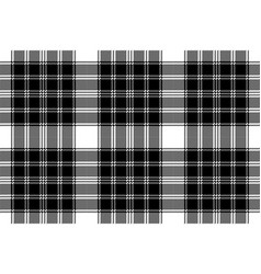 classic pixel plaid black white seamless pattern vector image