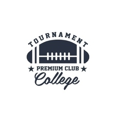 Classic Sport Label College Tournament vector