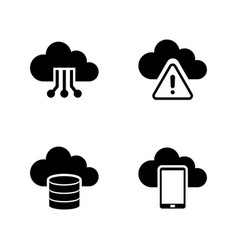 cloud settings simple related icons vector image