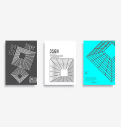 cover with geometric minimal design for banner vector image