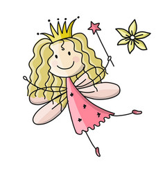 Cute little fairy sketch for your design vector